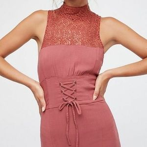 Intimately Free People High Society Lace-up Dress